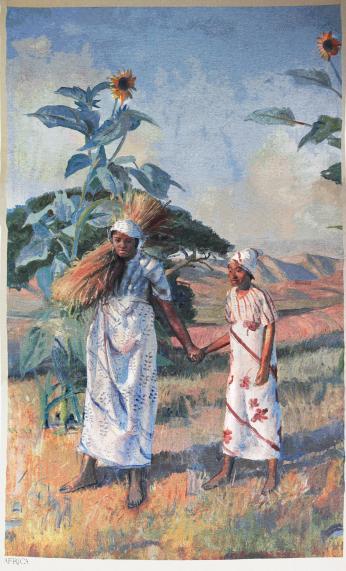 Harvest in Africa Tapestry
