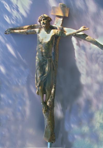 Crucifix at St. Frances X. Cabrini Church, El Paso, Texas