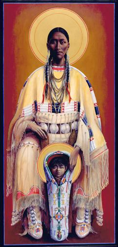 Cheyenne Madonna and Child
