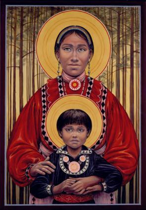 Choctaw Madonna and Child