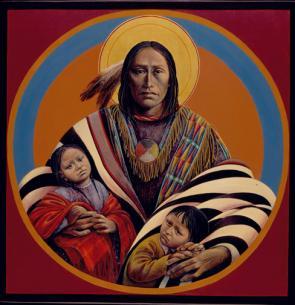 Lakota Jesus & Children