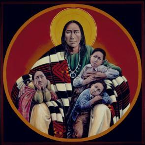 Navajo Jesus and Children