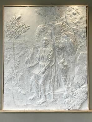 Holy Cross Bas-relief Installed 01